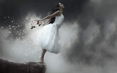 white-dress-girl-flowers-and-butterflies-wallpaper